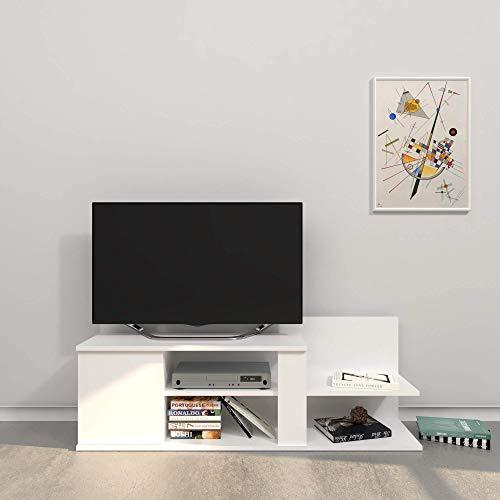 THETA DESIGN by Homemania Porta TV, Mobile TV Marshall, Bianco