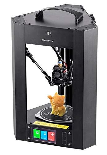 Monoprice Mini Delta 3D-Drucker von mit beheizter Bauplatte, automatische Kalibrierung, komplett für ABS- und PLA + -freie MicroSD-Karte mit druckbaren 3D-Modellen vorinstalliert, 110 x 110 x 120 mm