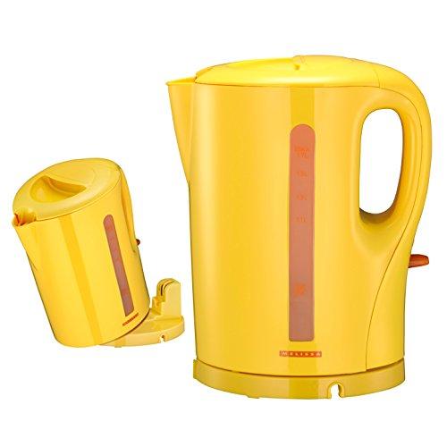 (196) Melissa kabelloser Neon Gelb Farbe Design Wasserkocher 1,7 Liter