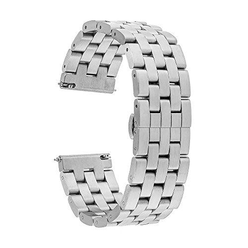 TRUMiRR 22mm in Acciaio Inox Cinturino a sgancio rapido del Cinturino Tutti i Link Rimovibile per Gear S3 Classic Frontier, Moto 360 2 46mm, ASUS ZenWatch 1 2 Uomini, LG G Watch Urbane W150