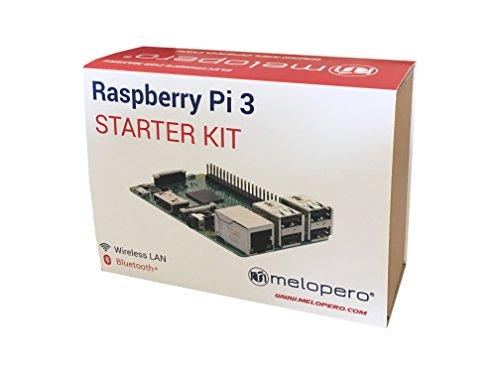 41d1fA5nkOL - Melopero Raspberry Pi 3 Official Starter Kit Black, con Cargador Oficial, Caja Oficial, microSD Oficial de 16GB con Noobs, Cable HDMI y disipadores