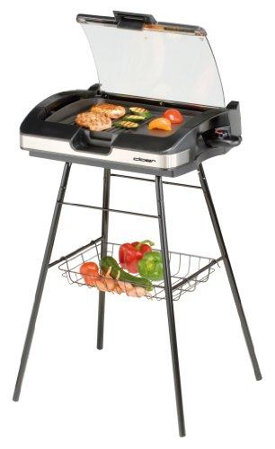 cloer griglia 6720 barbecue con supporto e cristallo