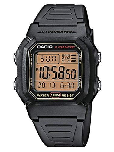 Casio Orologio Digitale al Quarzo Uomo con Cinturino in Resina W-800HG-9AVES