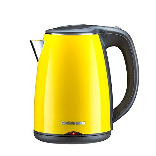 HQQ Gelber Wasserkocher 304 Nahrungsmittelgrad-Edelstahl-Haus-automatische Abschaltung Kessel 1.2L 1500W