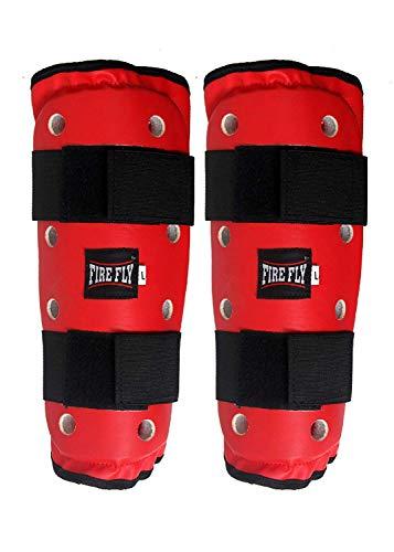 FIRE FLY Player Taekwondo Kit Approved Karate Safety All Gears Set PU II GlovesII Chest and Head Guard II Shin Guard Instep II Arm Guard II Fan Pad Training Stick (S, Red) 7