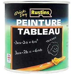 Rustins Blackboard - Vernice per lavagna (125/250/500 ml, 1/2,5 litri), colore: Nero 1 Litre