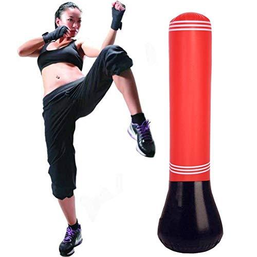 Sacco da boxe gonfiabile da pavimento, per adulti, per allenamento
