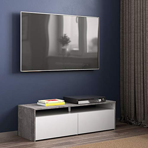 Wood & Colors, Dakota B, Mobile TV, Bianco (Bianco/Marrone), 31 x 140 x 42 cm