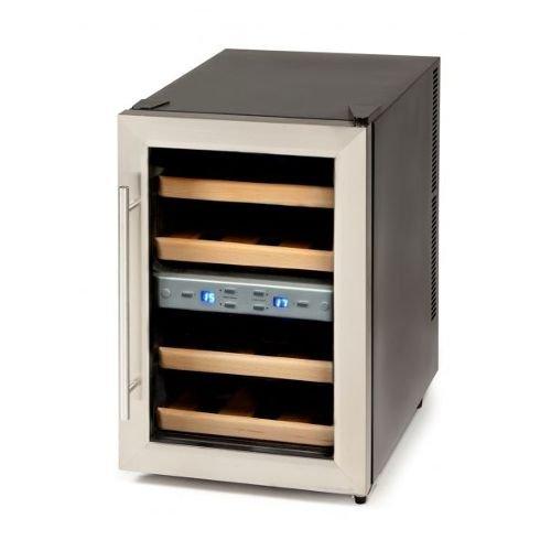 Domo DO909WK Libera installazione Cantinetta termoelettrica Nero, Acciaio inossidabile 12bottle(s)...