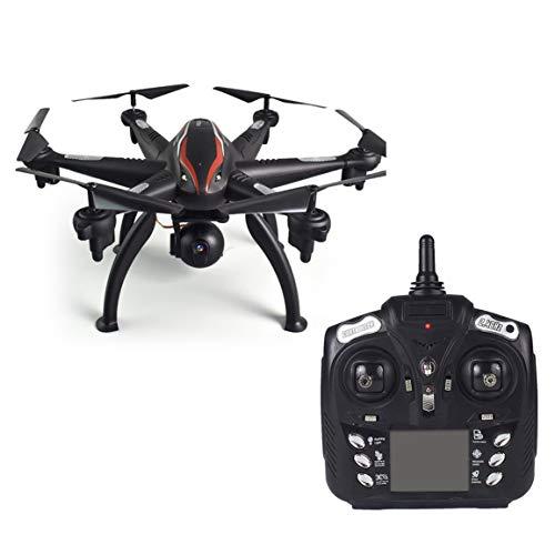 L100 6 assi 4CH 1080P Grandangolo 5G RC Drone Quadcopter Aereo aereo WiFi FPV Doppio GPS Telecamera regolabile a 180 ° Telecomando (Colore: nero)