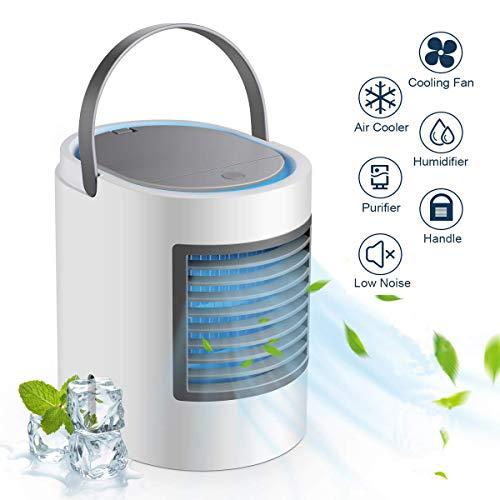 ZJWAI Mini Raffreddatore D'aria Climatizzatore Portatile Air Cooler Personali Ventilatore USB 3 in 1...