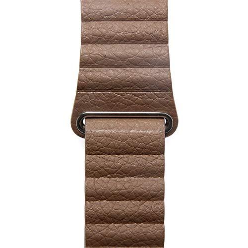 Cinturino XPC Cinturino in pelle Cinturino ad anello per orologio 5 4 3 Cinturino 44mm 40mm Correa Iwatch 5/4/3/2 42mm 38mm Cinturino magnetico Cinturino 38mm o 40mm marrone