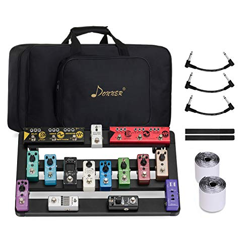 Donner Portable Guitar Pedal Board Case DB-5 Aluminium Pedalboard with Bag