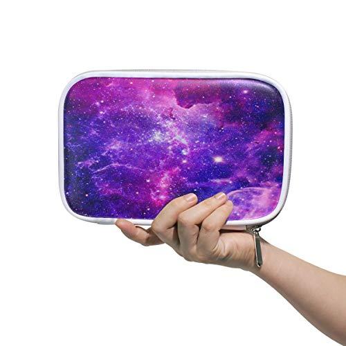Bursting Galaxy Nebulae, astuccio da scuola per penne, viola con stelle, borsa portatile per trucchi...