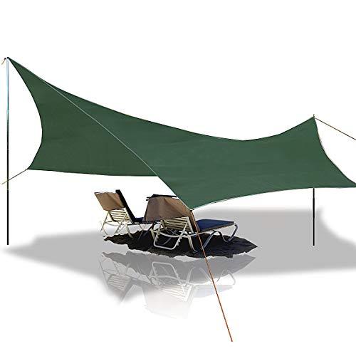 Telone da Spiaggia Anti-Pioggia Tenda Parasole per Amaca, Slimerence, 108'' x 108'' Ripstop Nylon...