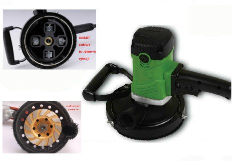 GOWE 15,24 cm polvo amoladora de mano eléctrico escarificador | 150 mm profesional Herramientas para eliminar epoxi y hormigón pulido | 4 kg