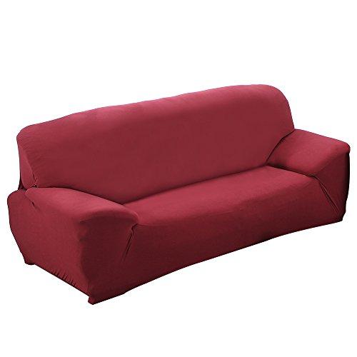 Funda para sofá, Alta Elasticidad 3 plazas Funda de sofá elástica, Cómodos sofás de 3 plazas (190cm - 230cm, 70 - 90 inches), Rote