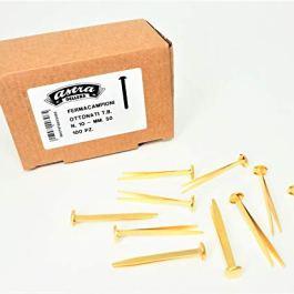 100 Fermacampioni Ottonati Astra N. 10 (51 mm) – Scatola di cartone da 100 pz. – Leone Dell'Era Made in Italy