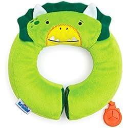 Trunki Almohadilla infantil de viaje - Yondi PEQUEÑO Dinosaurio Dudly (Verde)