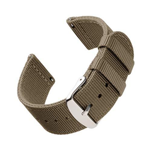 Archer Watch Straps   Premium Cinturino di Nylon Ricambio Sgancio Rapido Cinghia Orologio per Donne e Uomini, Orologi e Smartwatch   Kaki, 22mm