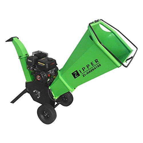 Trituradora de gasolina Zipper ZI-HAEK4100 triturador de jardin ramas arbustos..