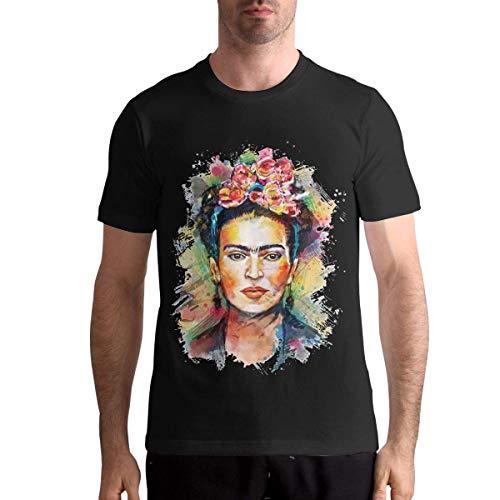 Frida Kahlo T Shirts Men's Tops Short Sleeved Round Neck Cotton Tees L