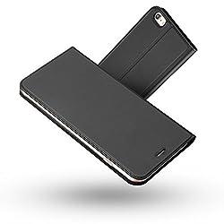 Kaufen iPhone 6S Hülle,iPhone 6 Hülle,Radoo® Premium PU Leder Handyhülle [Ultra Slim][Kabelloses Aufladen Unterstützung] Brieftasche-stil Magnetisch Folio Flip Klapphülle [Transparenter TPU Stoßfänger] Etui Brieftasche Hülle [Karte Halterung] Schutzhülle Tasche Case Cover für Apple iPhone 6 / iPhone 6S 4.7 Zoll (Schwarz grau)
