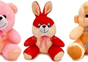 8ae015a3d Babique 25 Cm Combo Rabbit Monkey And Teddy Soft Toy For Kids – Multi Color