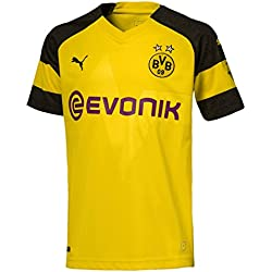 Puma Herren BVB Home Shirt Replica Evonik with Opel Logo Trikot, Cyber Yellow, L