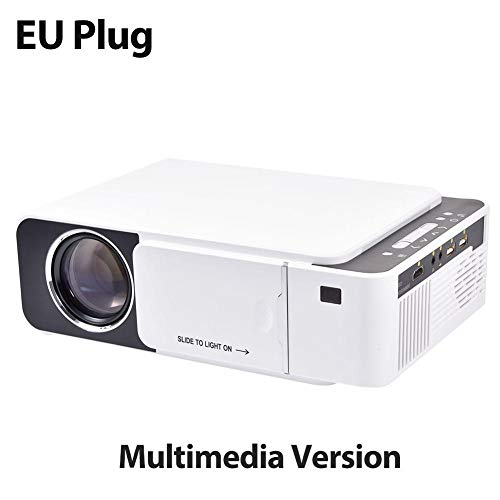 Bettying Mini videoproiettore LCD Portatile T5 2600 Lumen 4K 3D 1080P HD multimediale Home Theatre proiettore IR USB AV VGA HDMI connettore