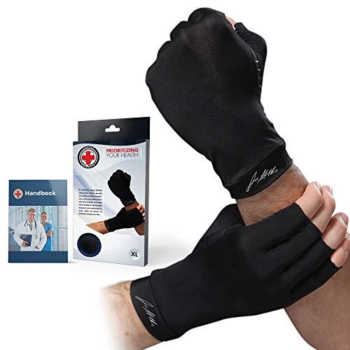 Guanti per Artrite con rame infuso [paio] ideato da medici e Manuale Medico - SOLLIEVO dai sintomi...