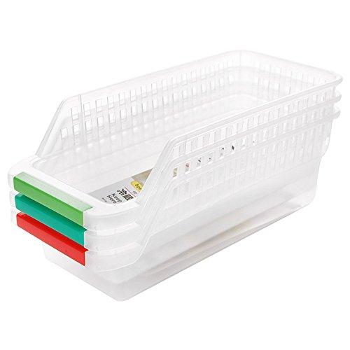 Contenitori / vaschette salvaspazio per frigo / freezer, set composto da 3 pezzi