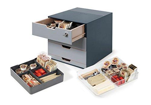 DURABLE 338558 - Coffee point box, stazione porta-capsule e accessori, 4 cassetti, 280x292x356 mm...