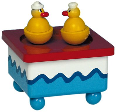 "MusicBox Kingdom 43721 Dancing Ducks Music Box Playing""All My Ducklings"""