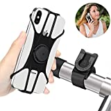 BAONUOR Handyhalterung Fahrrad,Abnehmbare handyhalter Fahrrad Face ID/Touch ID kompatibel, 360°drehbar, Universal Motorrad/Fahrrad Silikon Handy Halter, für 4-6 Zoll Smartphone,MTB Handy Halterung