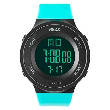 READ Orologio Sportivo Uomo Impermeabile con Data Automatica, Cronografo, Sveglia, Data Calendario...