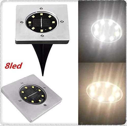 - WATOPI - Luci solari per esterni a energia solare, quadrate, impermeabili, 1 pezzo, 8 LED, lampada...