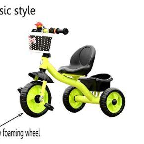 Bike, Bicicleta de Seguridad para Interiores y Exteriores, para niños de 2 a 5 años de Edad, 3 Ruedas, Color Verde, tamaño A