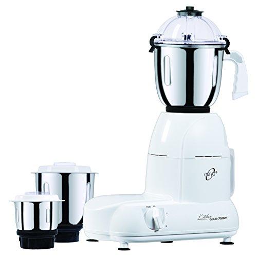 Orpat Kitchen Gold 750-Watt Mixer Grinder (White)