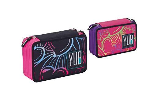 yub- Astuccio 3 Zip MURALES Girl, Colore Default, 3B3011803