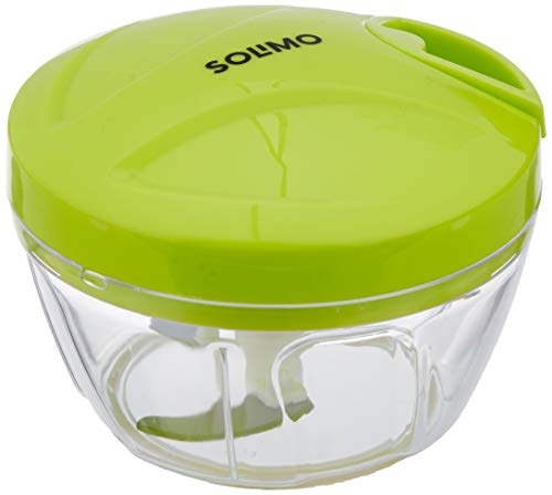 Amazon Brand - Solimo Plastic Chopper with 3 Blades, 400ml, Green