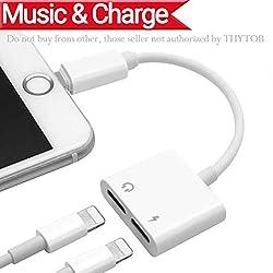 Kaufen 2 in 1 Lightning Kopfhörer Jack Adapter für iPhone X, iPhone 8/ 8 Plus.iPhone 7 / 7 Plus 6/6 Plus iPod/ iPad. Lightning auf AUX Audio Headphone Jack Adapter + Charging Port Adaptor Splitte Kompatibel mit iOS 10.3/11 Oberhalb oder unterhalb iOS 10.3 system-(Weiße)