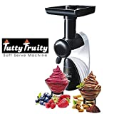 Instakart Tutty Fruity Soft Serve Maker Low Fat & Tasty Desserts in Seconds (Black & White)
