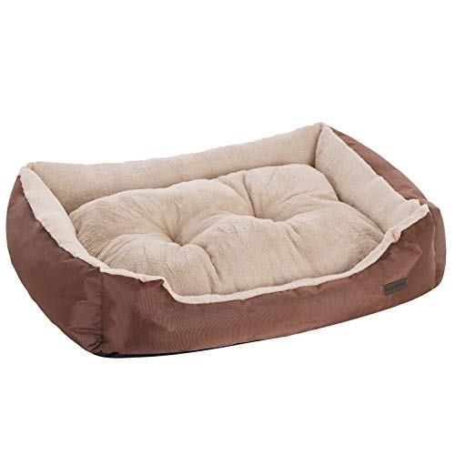 FEANDREA Cuccia Lettino per Cani, Cuscino per Animali Domestici, Divano per Cuccioli, Cestino per Cane, Taglia L 90 × 70 cm PGW04Z