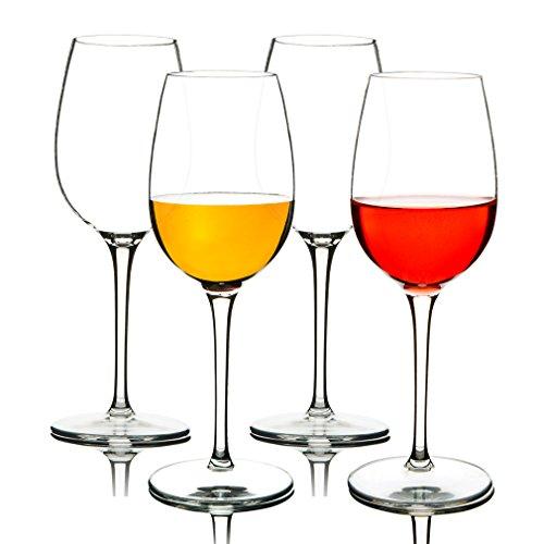 MICHLEY Bicchieri di Vino Infrangibili 355 ml Set da 4 Tritan-plastica Calici da Vino Rosso Lavabile...