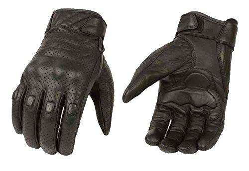 Milwaukee in pelle da uomo Premium in pelle perforata Cruiser guanti, nero MG7500