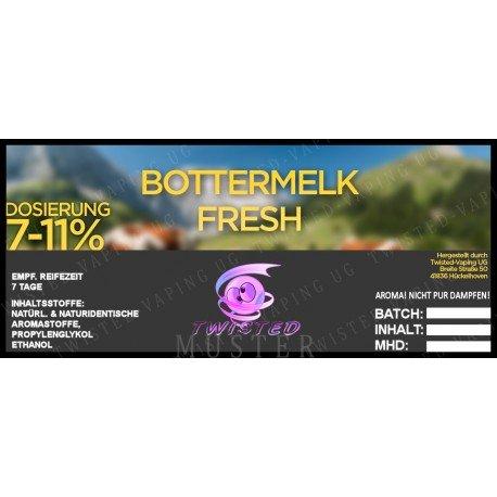 Twisted Vaping Aroma 10ml DIY Größe Bottermelk Fresh