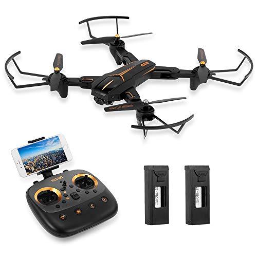 Goolsky VISUO XS812 Drone 2.4G GPS 5G WiFi FPV 1080P Telecamera grandangolare RC Quadcopter Pieghevole Altitude Hold RC Droni (2 Batteria)