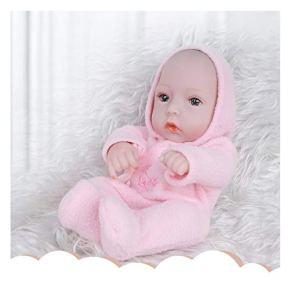 Suave muñeca de plástico de ducha, casa del bebé, juguete lindo vestido, muñeca de la simulación, regalo de la muchacha