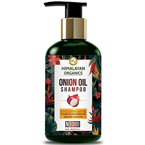 Himalayan Organics Onion Oil Shampoo for Hair Growth - No Parabens & No Sulphate - 300ml